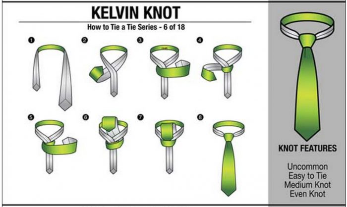 cara ikat tie kelvin knot