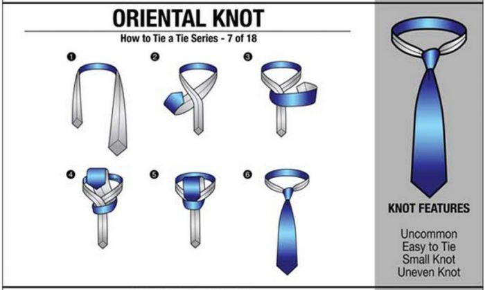 cara tie oriental knot
