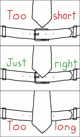 panjang tali leher